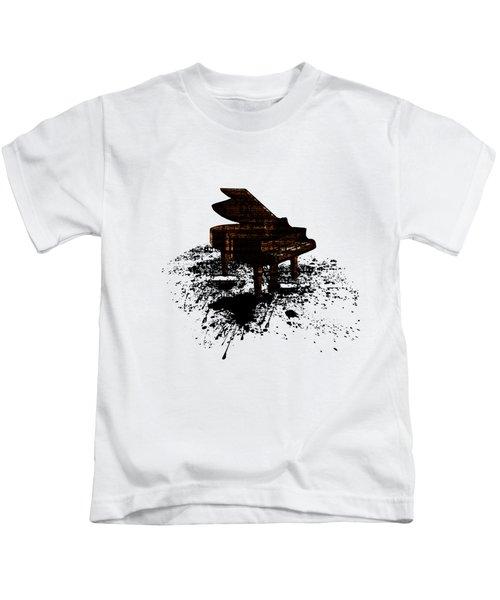 Inked Gold Piano Kids T-Shirt