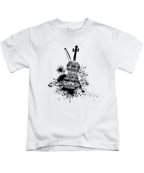Inked Violin Kids T-Shirt