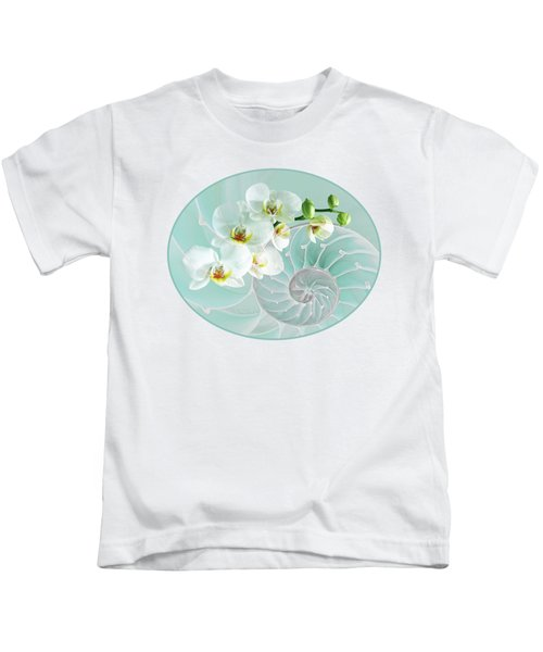 Intimate Fusion In Turquoise Kids T-Shirt by Gill Billington