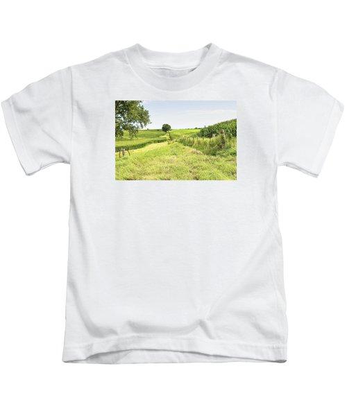 Iowa Corn Field Kids T-Shirt
