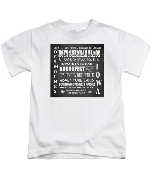 Iowa Famous Landmarks Kids T-Shirt