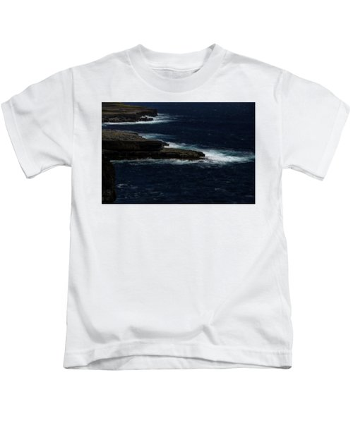 Ireland Inishmore Aran Island Coastal Landscape Kids T-Shirt