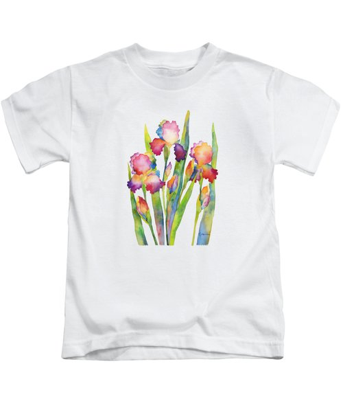 Iris Elegance Kids T-Shirt by Hailey E Herrera