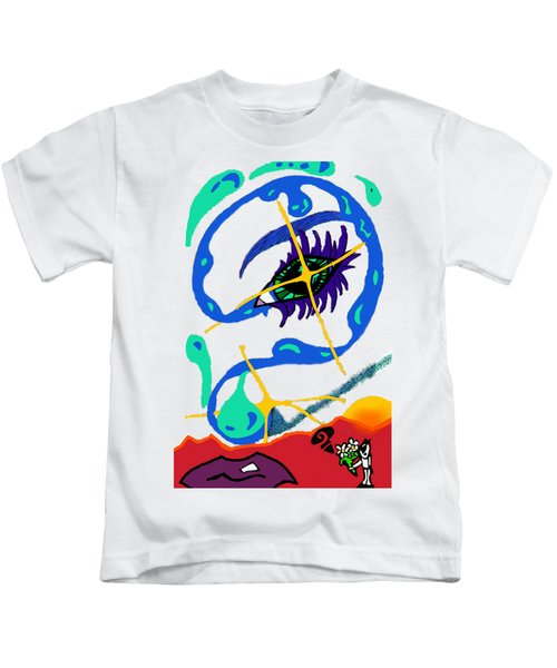 iseeU Kids T-Shirt by Flyn Phoenix