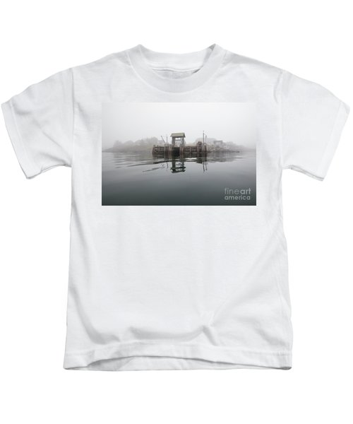 Island Boat Dock Kids T-Shirt