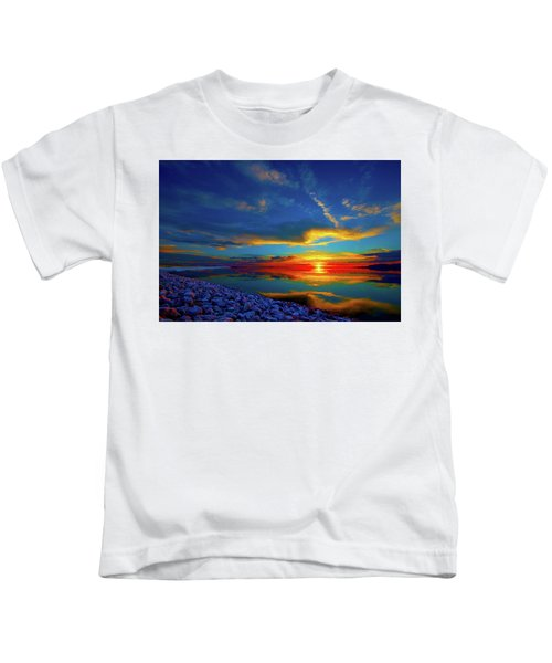 Island Sunset Kids T-Shirt