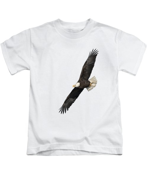 Isolated American Bald Eagle 2016-3 Kids T-Shirt