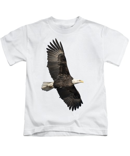 Isolated American Bald Eagle 2016-4 Kids T-Shirt
