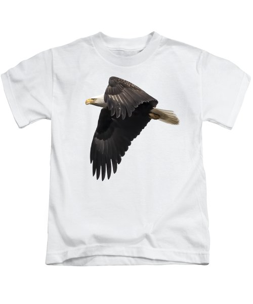 Isolated American Bald Eagle 2016-6 Kids T-Shirt