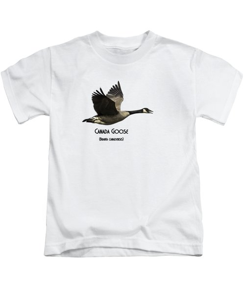 Isolated Canada Goose 2015-1 Kids T-Shirt by Thomas Young
