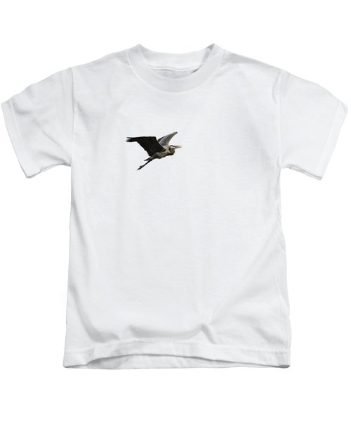 Isolated Great Blue Heron 2015-3 Kids T-Shirt by Thomas Young