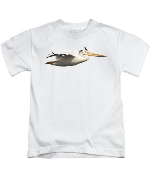 Isolated Pelican 2016-1 Kids T-Shirt by Thomas Young