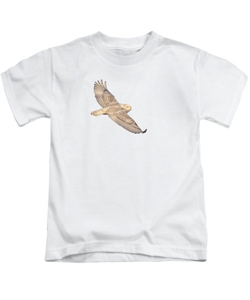 Isolated Snowy Owl 2018-1 Kids T-Shirt