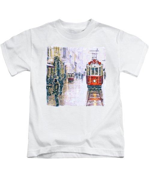 Istanbul Nostalgic Tramway Kids T-Shirt