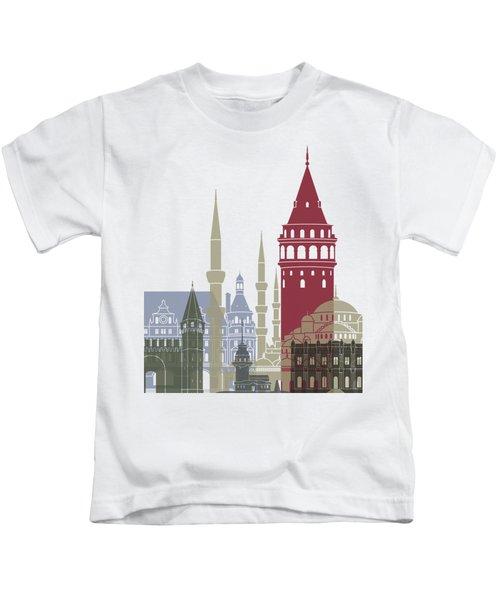 Istanbul Skyline Poster Kids T-Shirt by Pablo Romero
