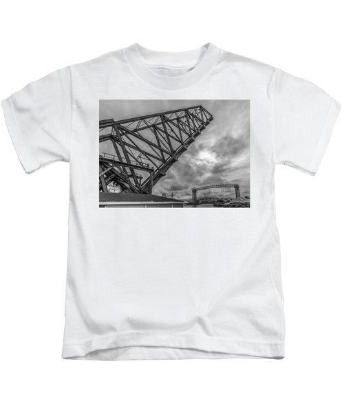 Jackknife Bridge To The Clouds B And W Kids T-Shirt