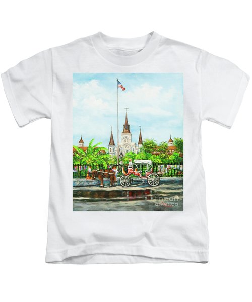 Jackson Square Carriage Kids T-Shirt