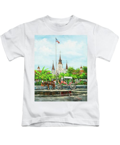 Jackson Square Carriage Kids T-Shirt