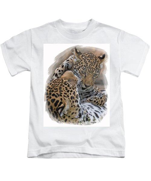Jaguar Mother And Cub 4 Kids T-Shirt