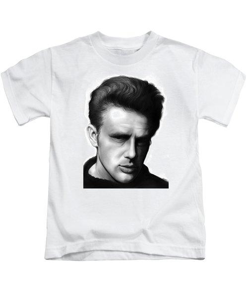 James Dean Kids T-Shirt by Greg Joens