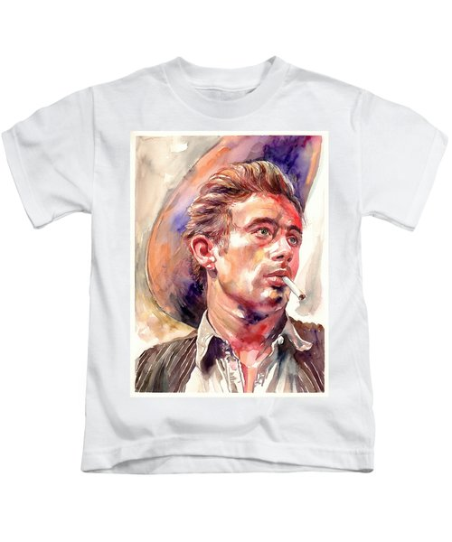 James Dean Portrait Kids T-Shirt