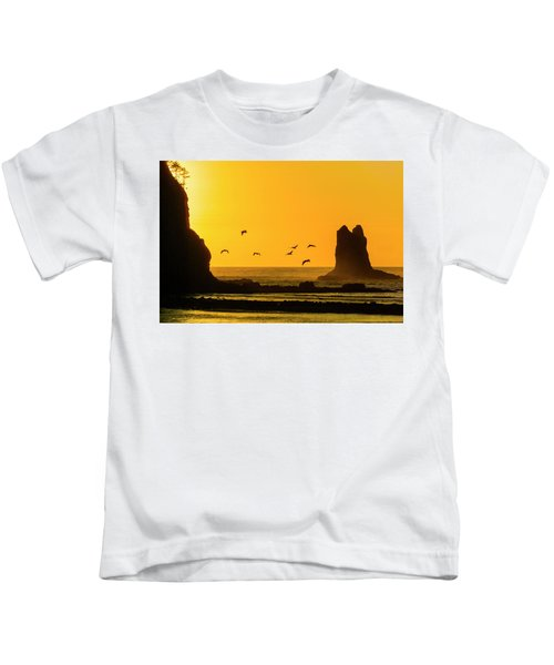 James Island And Pelicans Kids T-Shirt