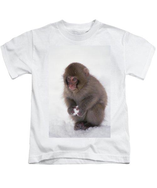 Japanese Macaque Macaca Fuscata Baby Kids T-Shirt