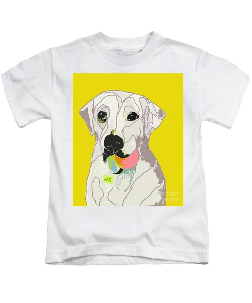 Jax With Ball In Yellow Kids T-Shirt