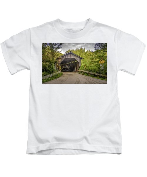 Jeffersonville Covered Bridge Kids T-Shirt