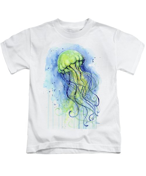 Jellyfish Watercolor Kids T-Shirt