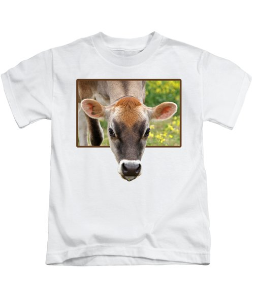 Jersey Fields Of Gold Kids T-Shirt by Gill Billington
