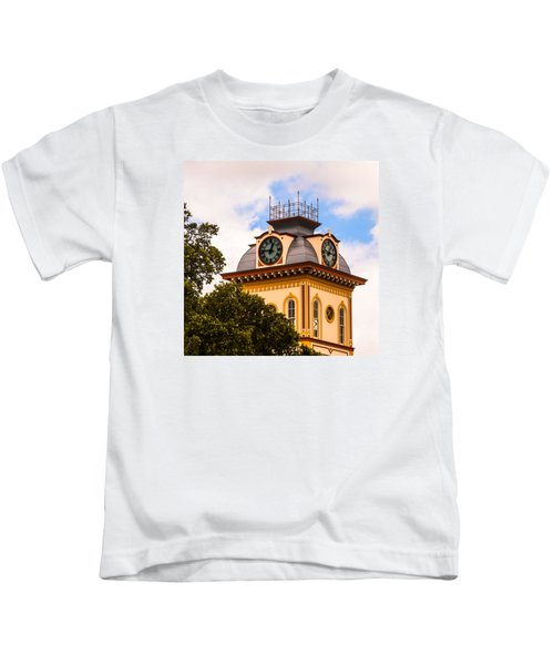 John W. Hargis Hall Clock Tower Kids T-Shirt