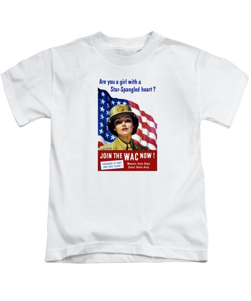 Join The Wac Now - World War Two Kids T-Shirt