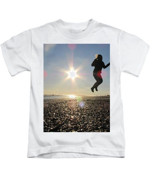 Jumping In The Sun Kids T-Shirt