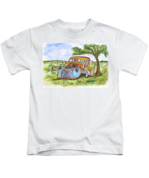 Junk Car And Tree Kids T-Shirt