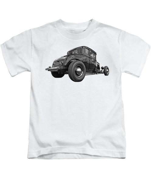 Just Chillin' - Black And White Kids T-Shirt