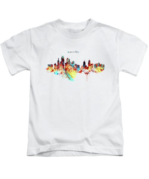 Kansas City Skyline Silhouette Kids T-Shirt