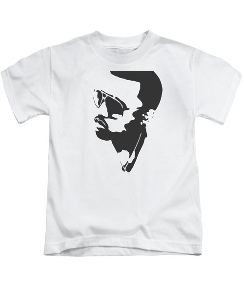 Kanye West Silhouette Kids T-Shirt by Dan Sproul