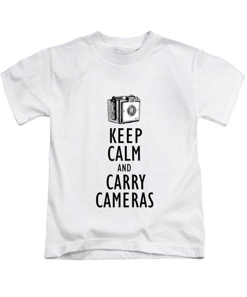Keep Calm And Carry Cameras Phone Case Kids T-Shirt