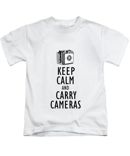 Keep Calm And Carry Cameras Phone Case Kids T-Shirt