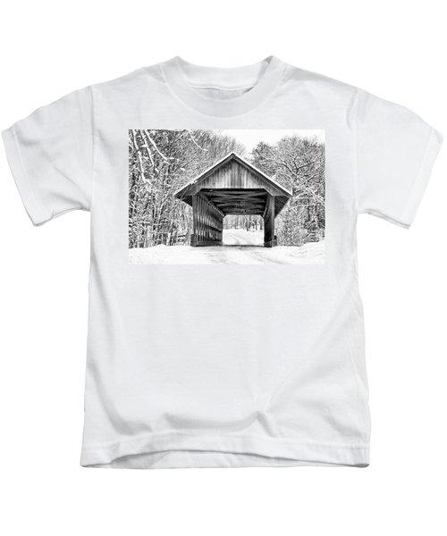 Keniston Covered Bridge  Kids T-Shirt