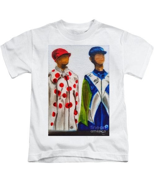 Kentucky Derby Jockey Mannequins Kids T-Shirt