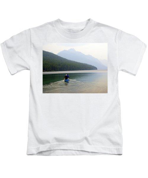Kintla Lake Paddlers Kids T-Shirt