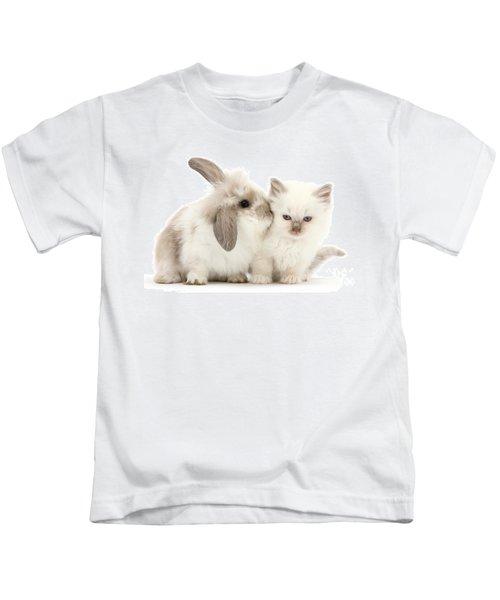 Kiss Her Fluffy Cheek Kids T-Shirt