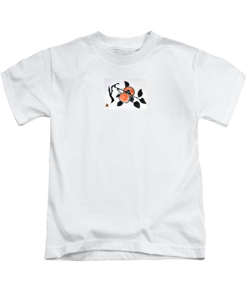 Kissing Persimmons Kids T-Shirt