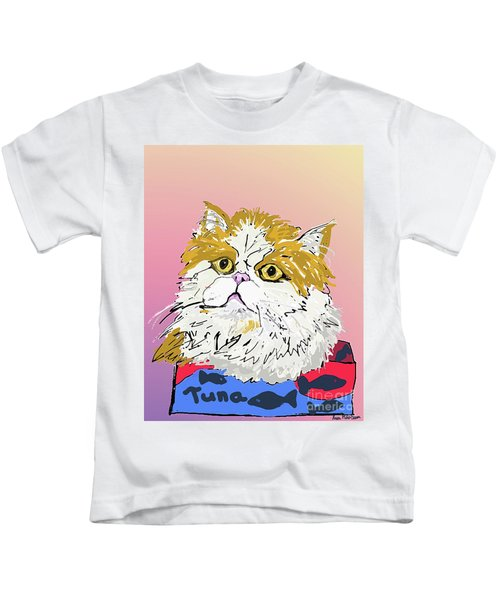 Kitty In Tuna Can Kids T-Shirt