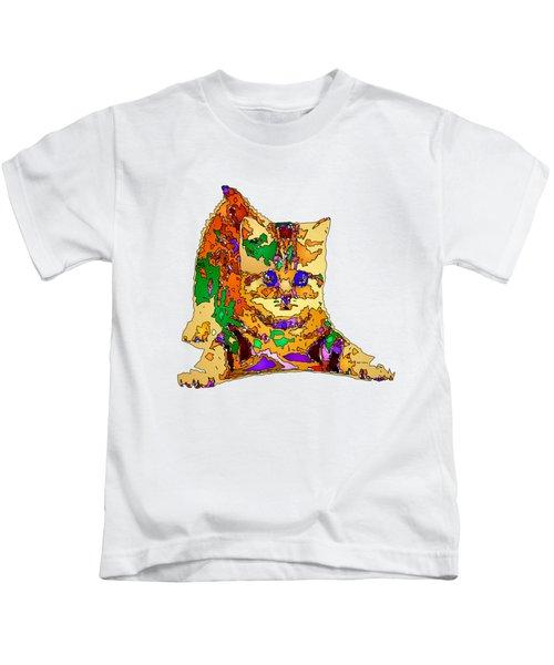 Kitty Love. Pet Series Kids T-Shirt