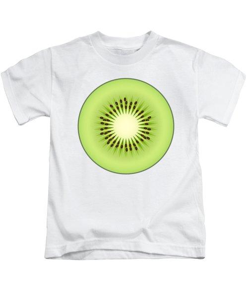 Kiwi Fruit Kids T-Shirt by Miroslav Nemecek