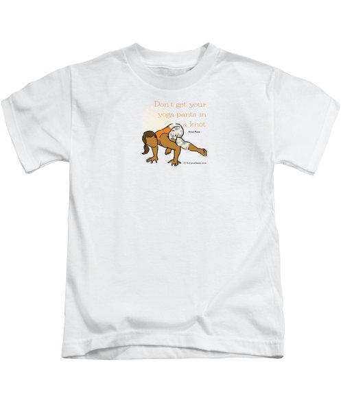 Knot Pose 2 Kids T-Shirt