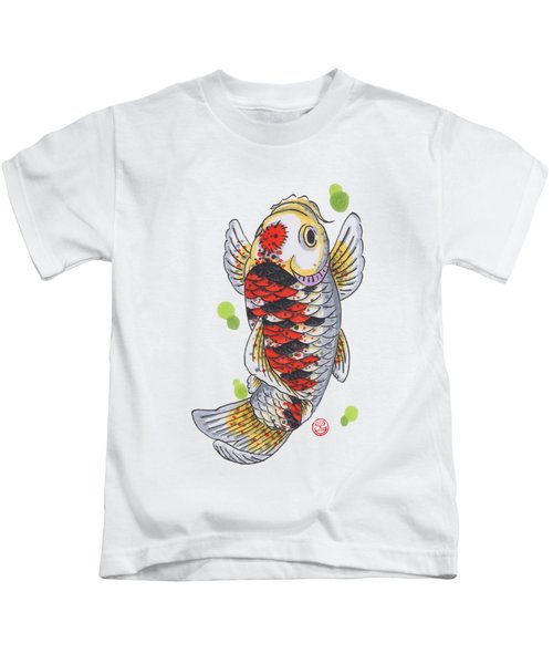 Koi Fish Kids T-Shirt by Shih Chang Yang